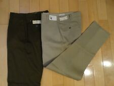 2 Vtg 60'S Youth Slim Leg Cuff Perma-Press Pants Kentfield 29 & 31 Deadstock