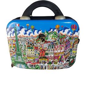 Heys Fazzino Hard Side Vanity Case Luggage Carry On Makeup Case Paris City Scape