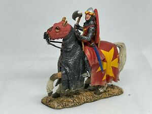 """KING & COUNTRY MK """"CRUSADER KNIGHT"""" MK024 MOUNTED KNIGHT W/AXE RETIRED 2006"""