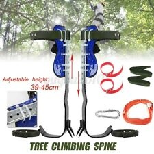 Treepole Climbing Spike Set 2 Gears Both Sides Safety Belt Lanyard Rope Tool