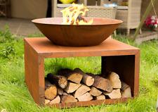La Hacienda Moho Garden Fire Pit Outdoor Patio Heater Natural Rusted Cast Iron