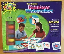 Rainbow Art Super Water Color Kit- Painting Kit as Seen on TV & 4 wild stencils.