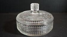 Vintage 60's Crystal Glass Vanity Dresser Jar Canister w/ Lid Avon