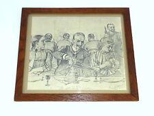 Lithographie Bild im Rahmen signiert datiert Hamburg 1888 C. W. Allers B-211