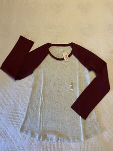 NWT, Justice Girls Long Sleeve Shirt, Size 12
