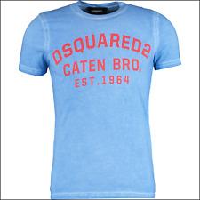 Dsquared2 Blue Cotton T-shirt Size XL