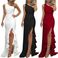 US Womens Sleeveless Bodycon Split Ladies Summer Cocktail Party Evening Dresses