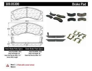 StopTech For Dodge, Eagle, Plymouth Disc Brake Pad Set Front Centric - 309.05300