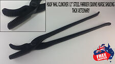 Hoof Clincher, Farrier Tool Hoof Nail Clincher 12 Inch Plier Black Color