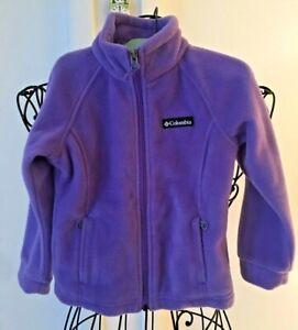Columbia Sportswear Kid's Fleece - Purple - XXS 4/5 - Preowned - EUC