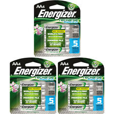 3 Pack Energizer Recharge AA Rechargeable Batteries 2300mAh 4 Batteries Each