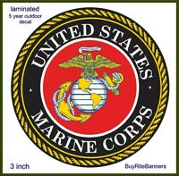3 Inch United States Marine Corps USMC Emblem Decal Sticker. High Quality