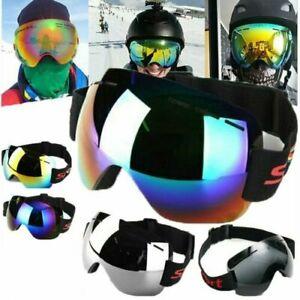 Winter Frameless Snowboard Snowmobile Windproof Anti Fog UV Snow Ski Googles UK