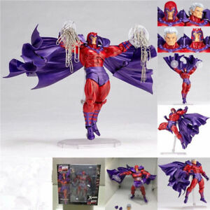 "7"" PVC Kaiyodo Revoltech Amazing Yamaguchi Magneto Action Figure X-Men Toy Model"