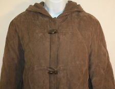 Bromley Ladies Brown Feather Down Quilted Hooded Zip Up Winter Jacket Coat Large