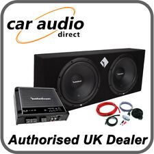 "Rockford Fosgate Prime R1-2X12 12"" Twin 800W Subwoofer & R500X1D Amplifier Deal"