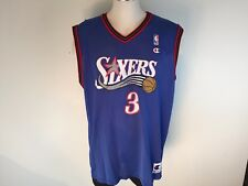 Allen Iverson Philadelphia 76ers NBA Basketball Jersey Blue Men 44 Champion c0d7d1f87