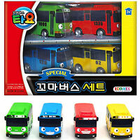 Little Bus TAYO Mini Cars special Edition 4 pcs,Tayo Rogi Gani Rani Korean Toy