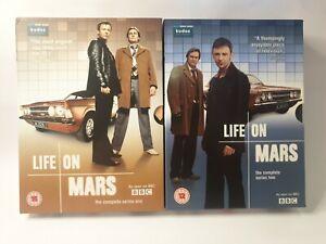 LIFE ON MARS (UK) - Series 1+2 dvd Set 8 discs Like New