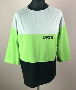 Dakine Reactor MTB Cycling Jersey Men's Size L 3/4 Sleeve Mountain Bike Shirt