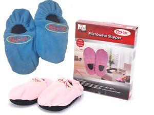 Microwaveable Luxurious Snuggle Toes Heat Slippers Warm Fleece Sofa Mens Ladies
