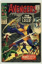 AVENGERS #34 (1966) CAPTAIN AMERICA, HAWKEYE, GOLIATH & THE WASP ( LIVING LASER)