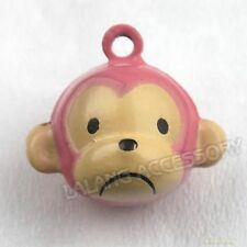 5x 270118 Pink Monkey Charms Jingle Bells Fit Christmas/Party Free Shipping