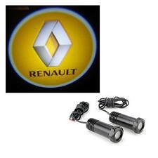 2 x Cree LED Car Door Logo Welcome Projector Light Kit 12v - Renault Megane