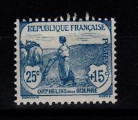 YV 151 N* , 1ere Orphelin , pas aminci Cote 90 Euros (RF057)