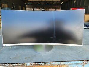 "CRACKED! Samsung LC34J791WTNXZA 34"" CJ791 Ultrawide Curved Gaming Monitor QLED"