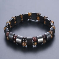 Black Magnetic Hematite Stone Bracelet Therapy Health Care Weight Loss Jewelry