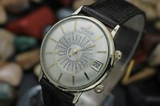Vintage LeCOULTRE Memovox Alarm World Time GMT 10K G.F. Men's Dress Watch