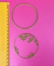 Star/Círculo/marco/Die/tarjeta de abertura de corte// Conjunto de 2 Terrajas