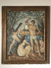 19Th Century French Impressionist Oil Painting - Vintage Antique Modern Cubism