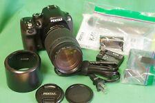 Pentax K-50 DSLR Camera w/ Pentax DAL 55-300mm zoom lens Shutter Count 721
