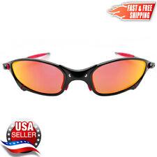 Juliet X-Metal Sunglasses Polarized UV400 Ruby Iridium Lenses & Metal Frames