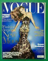 Vogue UK September 2004 Kate Moss Gemma Ward Elise Crombez Diana Dondoe Magazine