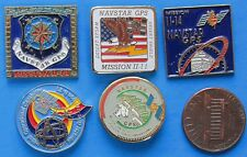 NASA PIN LOT of 5 vtg NAVSTAR GPS Mission II-14, II-11, II-18, II-21, II-15