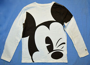 Gap Kids NWT Disney Mickey Mouse Off White Long Sleeve Tee L 10 XL 12 $25