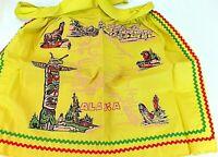 Vintage ALASKA STATE Souvenir APRON Yellow