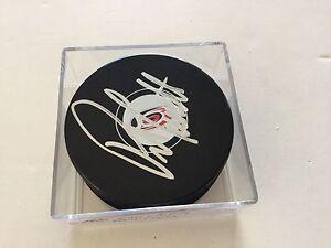 Peter Laviolette Signed Carolina Hurricanes Hockey Puck Autographed a