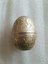 More details for antique etched decoration egg shaped thimble cased pin cushion