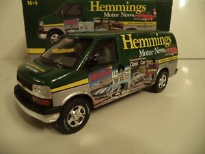HIGHWAY 61 DCP  CHEVY EXPRESS CARGO VAN HEMMINGS NEWS 1/25TH SCALE IN BOX.