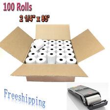"100 Rolls 2 1/4"" x 85' Thermal Cash Receipt Register Credit Card Pos Paper Label"