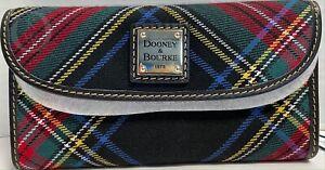 NIB*Dooney & Bourke*BLACK Tartan Plaid*CONTINENTAL CLUTCH WALLET*21101B S167B