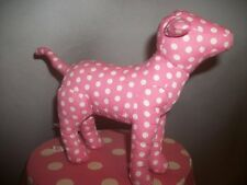 Victorias Secret Pink Dog Sm White Polka Dots White Tush Tag