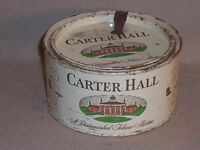 Vintage CARTER HALL TOBACCO TIN with lid opener and Feb 26 1926 Tax Stamp Foster