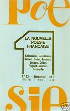 LA NOUVELLE POESIE FRANCAISE N° 43