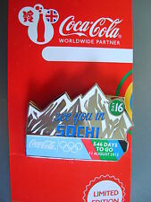 COCA COLA PIN BADGE - LONDON 2012 - DAY 16 SEE YOU IN SOCHI - MOC