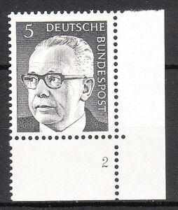 BRD 1970 Mi. Nr. 635 Postfrisch Eckrand 4 Formnummer 2 TOP!!! (9677)